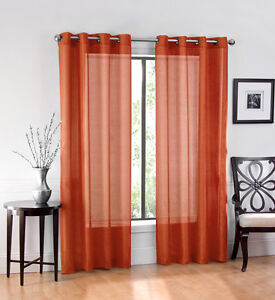 Ultra Luxurious Elegant Sheer Grommet Curtain Panels Assorted Colors