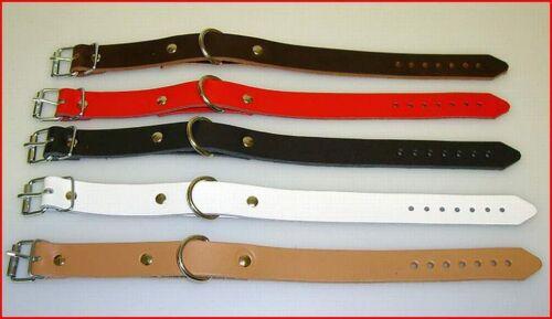 5 Lederbänder Lederriemen mit Rot Rollschnalle D-Ring 1,4 x 24,0 cm Fixriemen