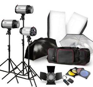 Professional-900W-STROBE-STUDIO-FLASH-LIGHT-KIT-LIGHTING-SET
