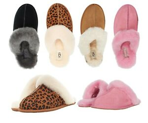 Women-039-s-Shoes-UGG-Scuffette-II-Slippers-Black-Chestnut-Pink-Espresso-Leopard
