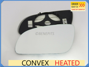 For AUDI A8 2003-2008 Wing Mirror Glass Convex HEATED Left Side //A020