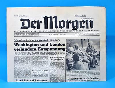 Der Morgen 1. Juli 1958 Zum 61. Geburtstag Hochzeit 01.07.1958 Ddr 1.7.1958