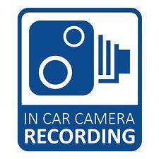 In Car CCTV Camera Recording Dash Cam Car Van Window Bumper Sticker Decal Blue