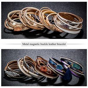 Fashion-Punk-Crystal-Multilayer-Wrap-Leather-Braided-Cuff-Bracelet-Wristband