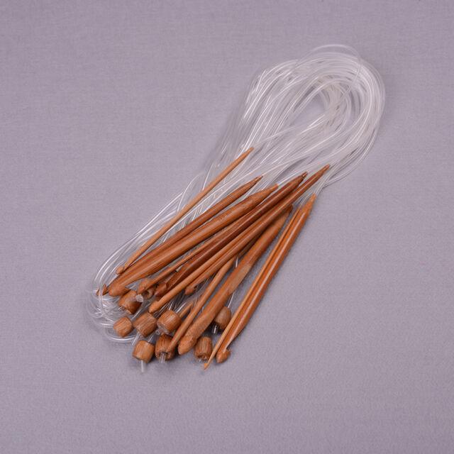 "1.2m48/"" 12 Different Sizes//Set Tunisian Carbonized Bamboo Needle Crochet Hook TO"