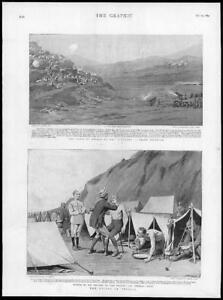 1895-Antique-Print-INDIA-Chitral-Panjkora-Bivouac-Land-Khawar-Shaving-209