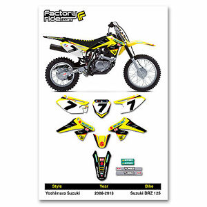 SUZUKI DRZ  Dirt Bike Graphics Kit Motocross Graphics - Decal graphics