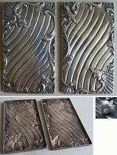2 plaques argent massif pour carnet de bal 19e siècle silver dance book