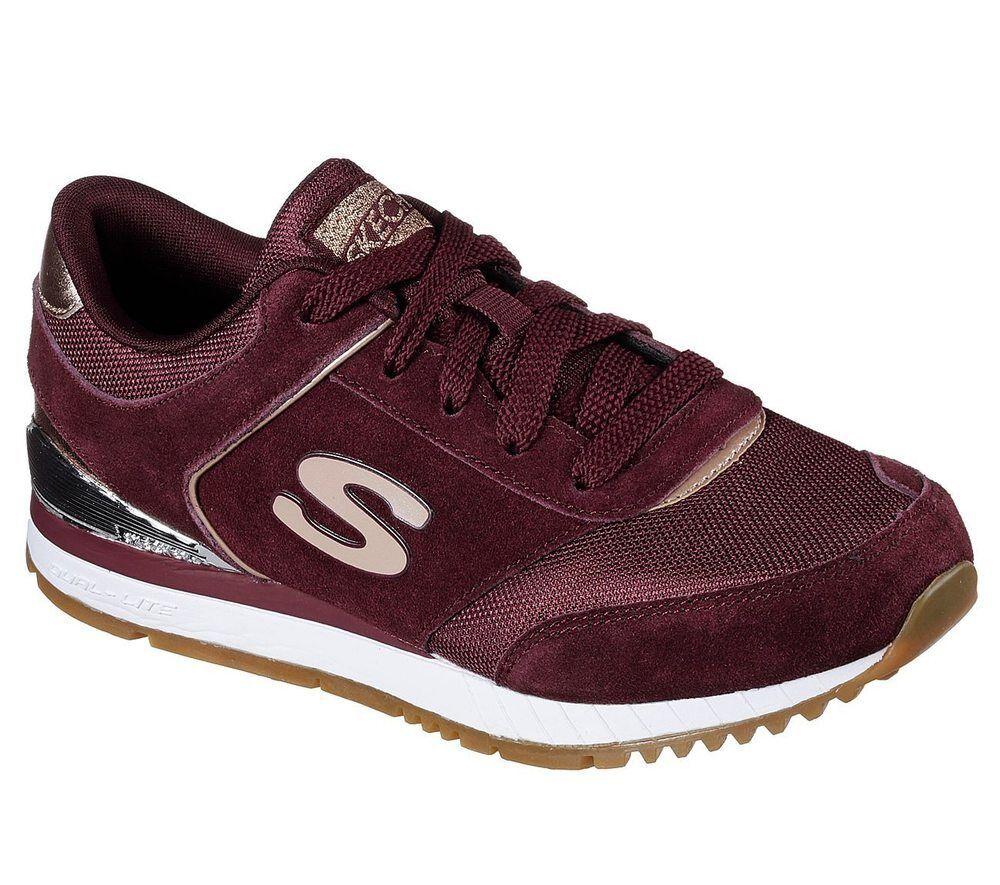 NUOVO Skechers Da Donna Jogging FOAM Sneaker Turn Scarpa MEMORY FOAM Jogging Sunlite revival Borgogna f8aa99