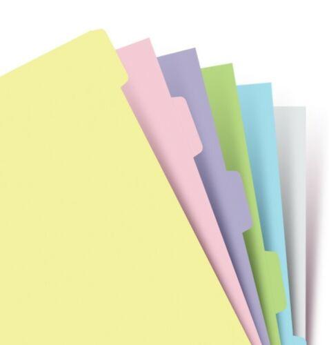 Persönlich Pastell 6 Blanko Reitern Verzeichnis Filofax