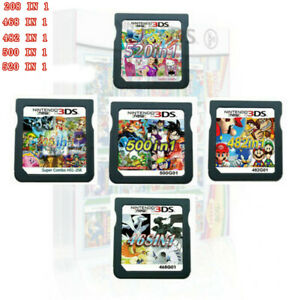 208/482/488/468/500/520 In1 Games Cartridge Cards ForDS NDS 2DS 3DS NDSI NDSL