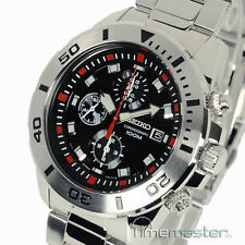 SEIKO MEN'S CHRONOGRAPH 7T92 MOVEMENT STAINLESS STEEL BLACK FACE SNDD95P1