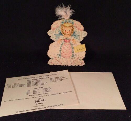 VINTAGE Hallmark Doll Card Land Of Make Believe Series #2 Cinderella