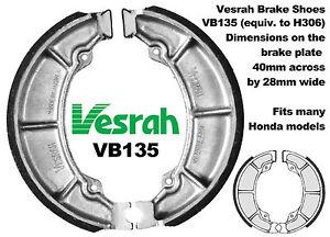 Vesrah REAR BRAKE SHOES SUIT HONDA ATC185 ATC 185 SZ SA SB SC 1979-1982 Drum