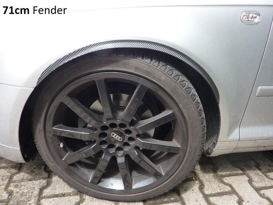 2x Wheel Thread Carbon Look Wheel Fender Flare 120cm Trim for Audi Body Tuning