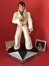 "Vintage Elvis Presley""Elvis IN CONCERT""Figurine RCA Micro-Cassette Player Stage"