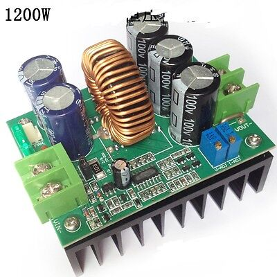1200W 20A DC-DC Converter Boost Step-up Power Supply Module IN 8-60V OUT 12-80V