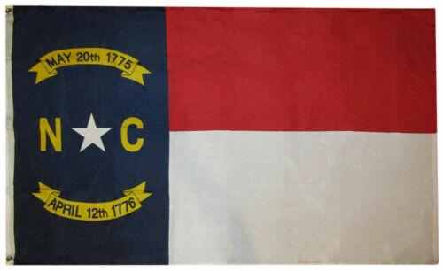 State of NC North Carolina Premium 3x5 3/'x5/' Woven Poly Nylon Flag Banner