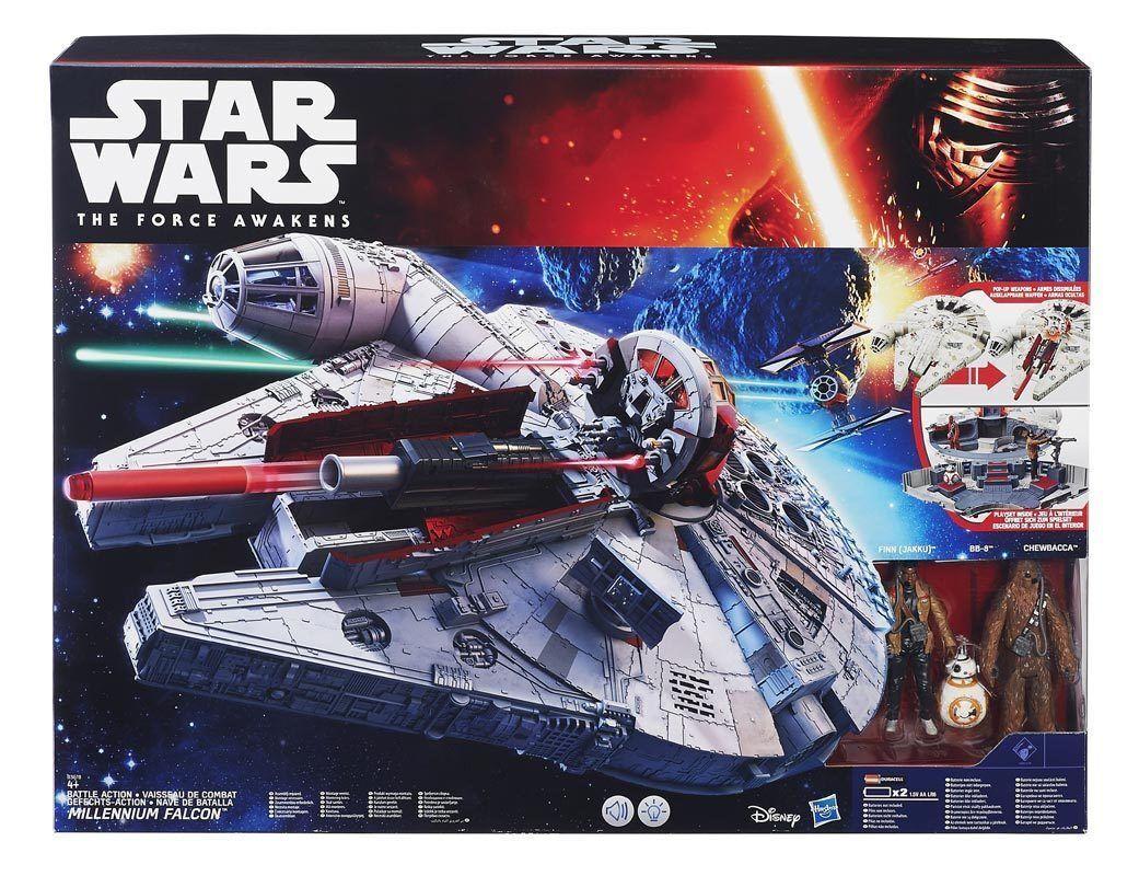 STAR WARS il Risveglio della Forza MILLENIUM FALCON VEICOLO B3678 Hasbro NEW