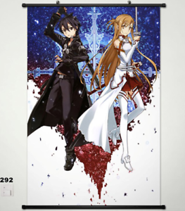 Home Decor Wall Scroll Poster Japan Sword Art Online Yuuki Asuna Kirigaya 292