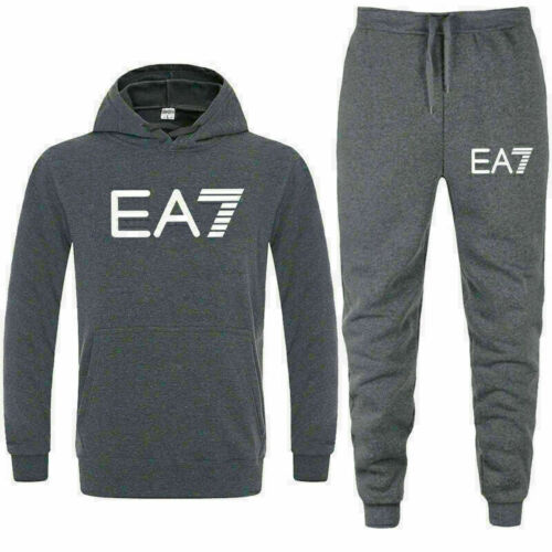 Black Friday Sale EA7 Mens Joggers Tracksuits Gym Hoodie Pullover Sweatshirt