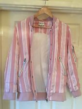 ACNE STUDIOS Pink Varden Tech PSS16 Womens Authentic Bomber Jacket - Size 34