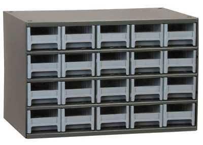 D 11 In AKRO-MILS 19416 Drawer Bin Cabinet W 17 In