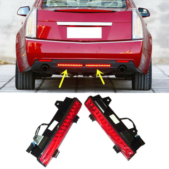 For Cadillac CTS 2009-2012 Red Rear Bumper Reflector Rear