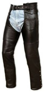 Chaps leather Cowhide Motorcycle Motorbike Trousers 28