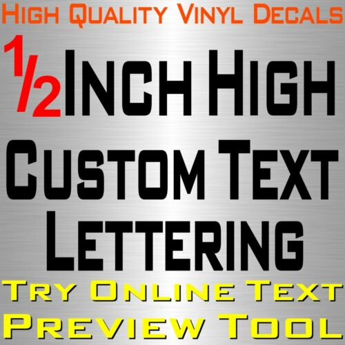 "Personalized 1//2/"" Custom Text Name Vinyl Decal Sticker Car Wall 16x Lettering"