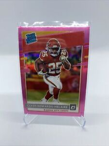 Clyde Edwards-Helaire 2020 Optic PINK Optic Prizm Rated Rookie