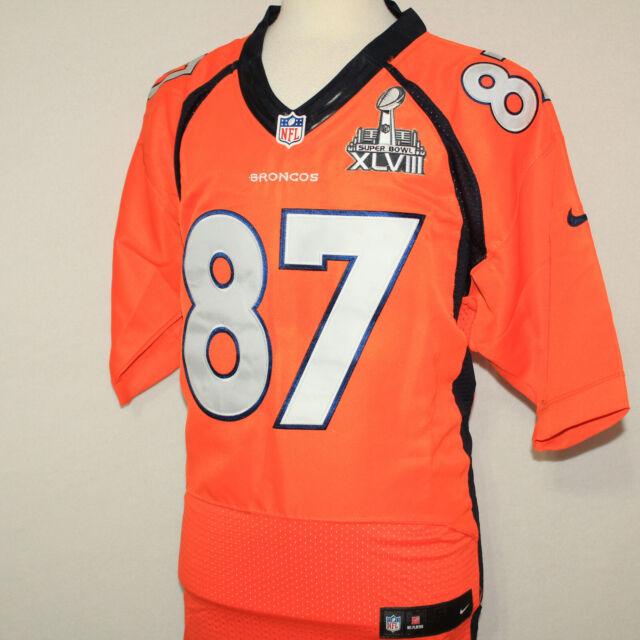 new products cdb41 07b5f NIKE Eric Decker 87 Denver Broncos ON-FIELD Superbowl Jersey SEWN STITCHED  Sz 52