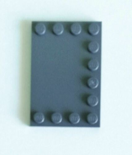 Lego 1x Smooth Plate Modified 4x6 Dark Grey 6180 SHIP FREE on purchases