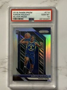 2018-19-Panini-Prizm-Aaron-Holiday-Silver-Prizm-Rookie-Card-RC-PSA-10-Gem-Mint