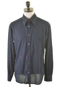 DOLCE-amp-GABBANA-Mens-Shirt-Size-38-Medium-Black
