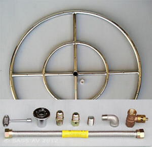"6"" 12"" 18"" 24"" 30"" 36"" Stainless Steel Fire Pit Burner Ring KIT for Natural gas 