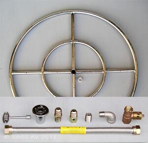 6 12 18 24 30 36 Stainless Steel Fire Pit Burner Ring Kit For Natural Gas Ebay