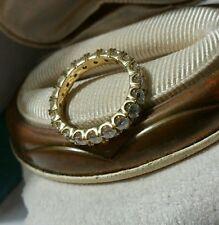 QVC Diamonique DQCZ 18k yellow gold vermeil/sterling silver Eternity Band ring