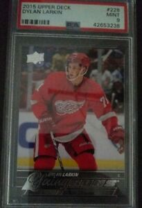 2015-16-Upper-Deck-228-Dylan-Larkin-Young-Guns-PSA-9-MINT-Detroit-Red-Wings-RC