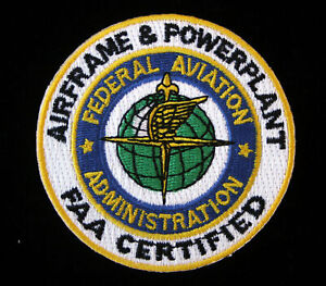 FEDERAL-AVIATION-ADMIN-HAT-PATCH-AIRFRAME-amp-POWERPLANT-FAA-PIN-UP-CERTIFIED