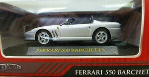 1-43-Hot-Wheels-Early-Ferrari-550-Barchetta-in-Silver-New-unopened-R2402