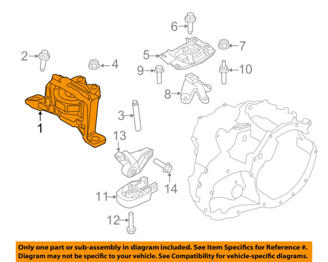 ford oem 12-16 focus-engine motor mount torque strut av6z6038a for sale  online | ebay  ebay