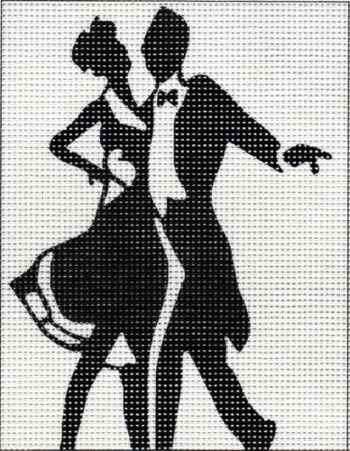 ca 14 x 18 cm sticken Handarbeiten Stickpackung Stickbild Gobelin BLACK´N WHITE