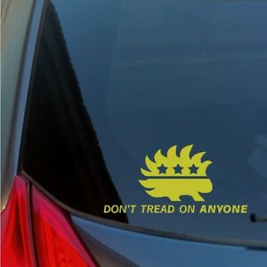 Don-039-t-Tread-on-Anyone-Libertarian-Porcupine-vinyl-sticker-decal-freedom-1776-2A