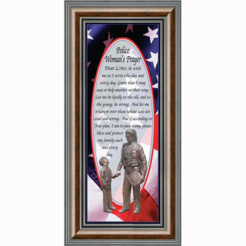 7796 Police Officer Gifts for Women Police Decor **NEW** Policewoman/'s Prayer