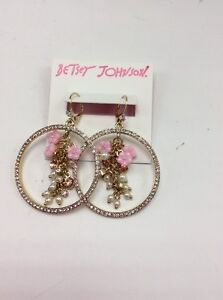 50-Betsey-Johnson-Pave-Gypsey-Hoop-earrings-Marie-Antoinette-Collection-PK11