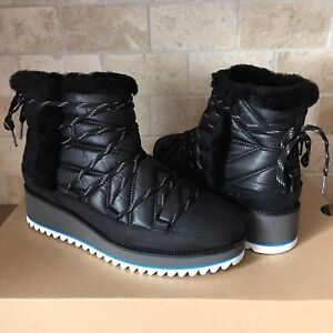 9e0c6b0d7b3 Details about UGG Cayden Mini Boots Black Waterproof Winter Snow Boots  Shoes Size 9.5 Womens
