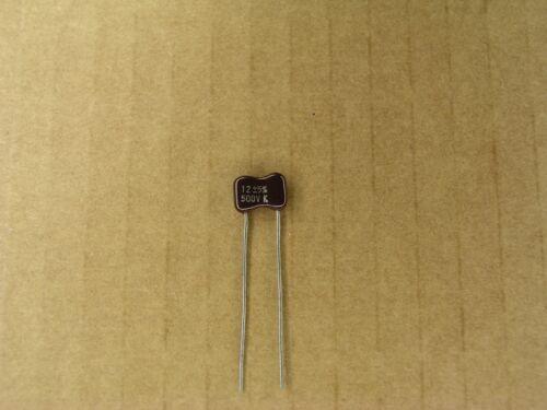 12 pf 500 volt 500V 5 /% silver mica capacitor S01029-162 5 Pc Lot