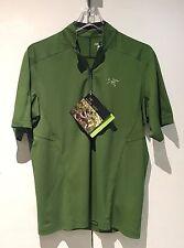 Arc'teryx Men's Velox Half-Zip Short Sleeve (Stone Pine): Medium