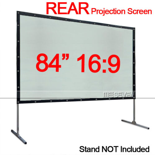 84 Inch 16:9 Behind Back Rear Projection Screen Curtains Film for All Projectors